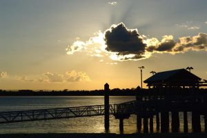Bongaree Jetty silhouette by wildplaces