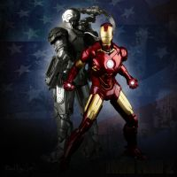 Iron Man and War Machine v2 by zeebow14