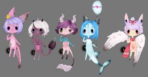 Anthro adopts//closed by Bonelo