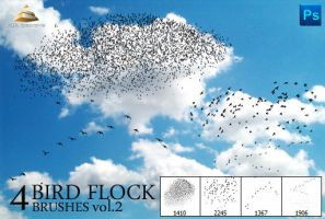 4 Bird Flock Brushes Vol#2 by HJR-Designs