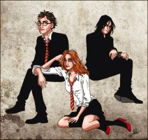 Harry, Ginny and Snape by lilis-gallery