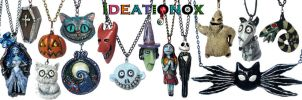 Tim Burton Inspired Necklace Collection by Ideationox