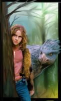 Hermione and Hippogryph by nickchong