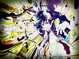Ao no Exorcist Wallpaper by MegaBleachy