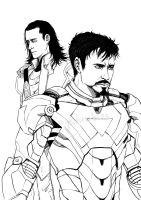 FrostIron - Longing lineart by TashinaJacob