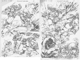 Red Sonja #75 pg 20,21 by MARCIOABREU7