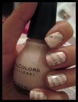 newspaper nails by xstdx
