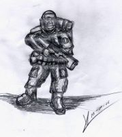 Sketchbook_Imperial Guardsman2 by MacRebisz