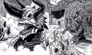 Kaiju Double Feature Sneak Peek by kaijukid
