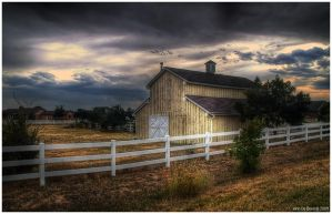 Evening Light At The Old Barn by kkart