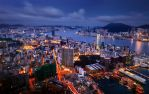 Hong Kong and Kowloon from Sky100 by palmbook