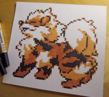 Arcanine sprite drawing by Skudde