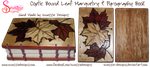 Handmade Coptic Bound Leaf Book - Outside Covers by snazzie-designz