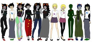 Homestuck Girls by Miss-Swan123