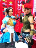 AX'13 Chun-Li and Cammy by theEmperorofShadows