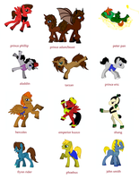 disney pony princes by monakaliza