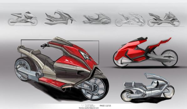 Motorcycle designs by Kernovy