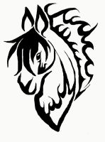 Tribal Horse by Lulabys-Melody