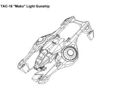 "TAC-16 ""Mako"" Light Gunship by WordBearer"