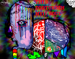 A Tortured Raped Psychedelic Mind (Doodle) by R4DIO-HAZARD