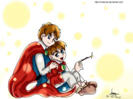 Ni No Kuni- Oliver and Lucien by Mistynia