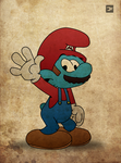 Smurf Mario by fireflies08