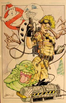 A Christmas Ghostbusters by steelcitycustomart
