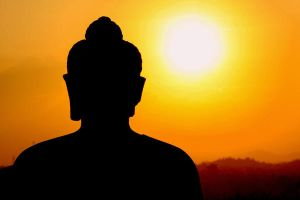 Silhouette of Buddha by thesaintdevil