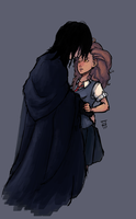 Art Trade- Snape x Hermoine by ego-m