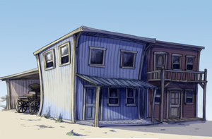 Ranch Bunkhouse Colored by lunatteo