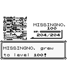 MISSINGNO. grew to level 100! by crookedcartridge