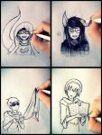 Homestuck - Playing with beta kids by MelSpontaneus