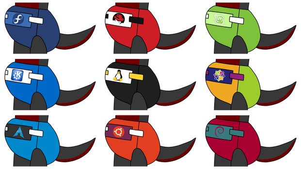 Linux Diaper Icons by thepouar