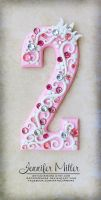 Pink Princess Number Cake Topper by ArteDiAmore