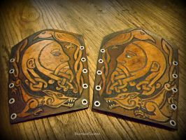 Odin Bracers - Pair by The-Beast-Man