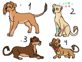 Lioness and cub adoptable ONE LEFT!! by Zari-Adoptables