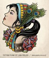 Gypsy Tattoo with Ponytail by Sam-Phillips-NZ