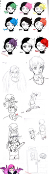Lot's of doodles [Weirdocraft] by Soulfire402