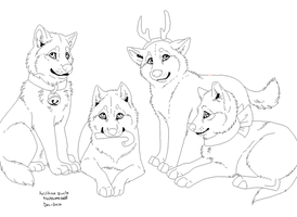 Free Wolf Gift Lineart Paintfriendly by foxy989