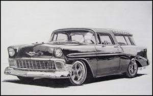 56 Chevy Nomad by professorwagstaff