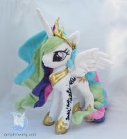 Signed Princess Celestia Plushie by dollphinwing