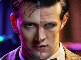 Eleventh and Tenth Doctors by Ferrlm