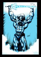 He-Man Sketch Recolored by LostonWallace