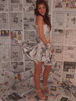 newspaper dress 2 by CharlotteHemingway