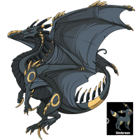 [Flight Rising] F - Ridgeback [Umbreon Skin] by Shadow-Blood-Dragon