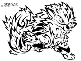 #059: Tribal Arcanine by blackbutterfly006