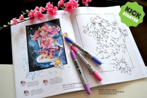 Kawaii Coloring Book Kickstarter Campaign by Lighane