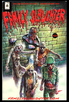 Family Slaughter Comic original front page artwork by familyslaughter