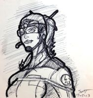 10Minute Pen and Ink Character Sketch by stourangeau