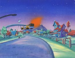 Back To The Future DeLorean Production Cel by AnimationValley